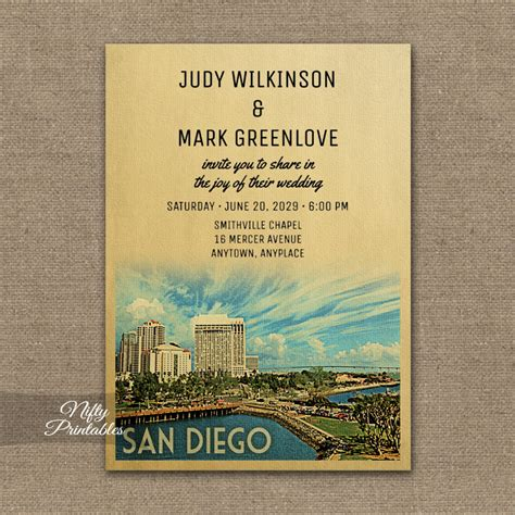 Wedding Invitations San Diego by San Diego California Wedding Invitation Printed Nifty