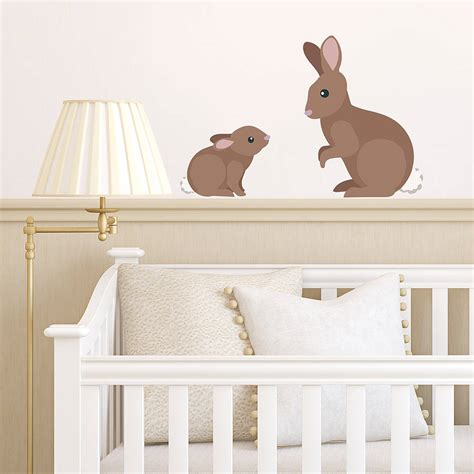 rabbit wall stickers children s rabbit wall stickers by oakdene designs notonthehighstreet