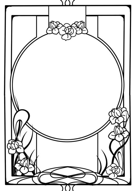 design frame clipart nouveau frame by tiger tyger on deviantart art nouveau