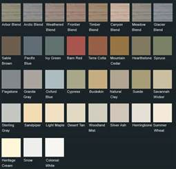 vinyl siding color chart vinyl siding lancaster pa house siding replacement