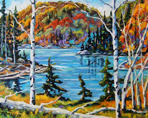 Landscape Artists In Canada Northern Landscape Canadian Painting By Prankearts Painting