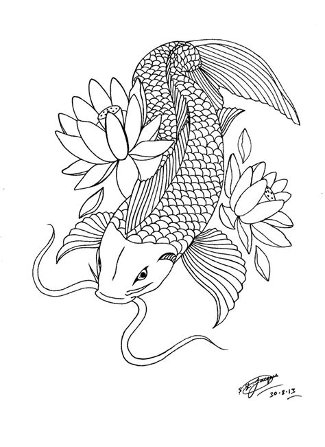 free koi carp tattoo designs my koi carp lotus design 3 by shannonxnaruto on