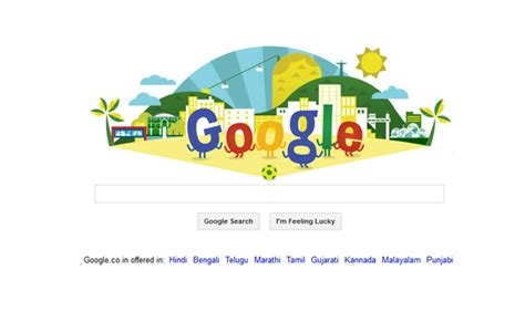 doodle for india 2014 results joins fifa world cup 2014 fever with a splendid
