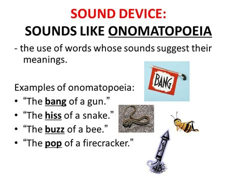 exle of onomatopoeia figurative language literary devices ppt