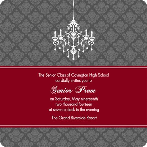prom invitation template best template collection