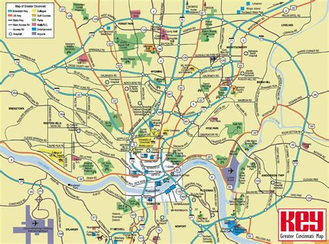 Search Cincinnati Large Cincinnati Maps For Free And Print High Resolution And Detailed Maps
