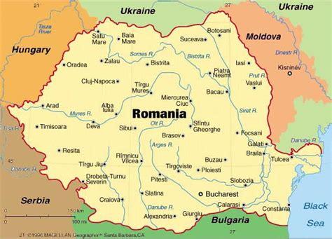 map of romania st andrew s romania