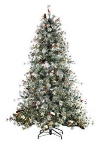 Frosted winter berry artificial christmas tree treetime classics