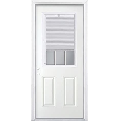Exterior Door With Blinds Reliabilt Entry Door Glass