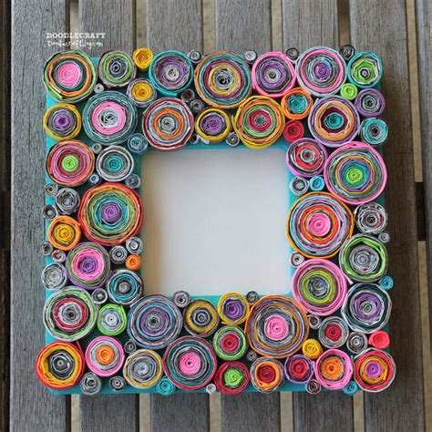 How To Make Rolled Paper - upcycled rolled paper frame