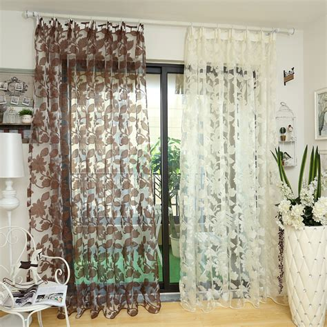 Sheer Fabric For Curtains Designs Window Floral Tulle White Sheer Fabrics Fabrics Curtains Transparent Design Door