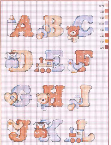 punto croce lettere per bambini punto croce schemi dell alfabeto blogmamma it