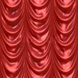 Drapery Cloth An Illustration Of A Silky Satin Red Fabric Or Curtain