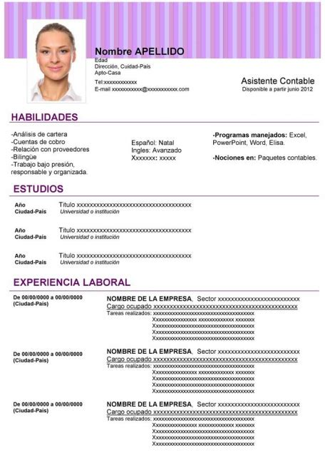 Descargar Plantillas De Curriculum Vitae Para Word 2003 plantillas de curriculum para descargar gratis en word