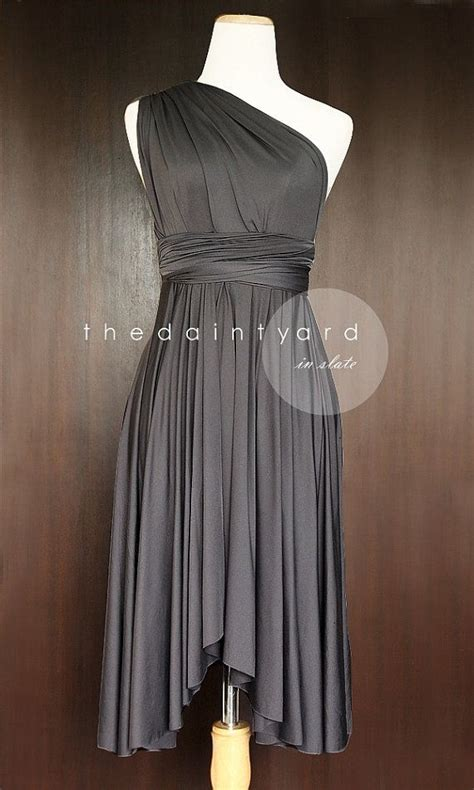 gray infinity dress gray bridesmaid convertible dress infinity dress multiway
