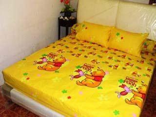Sprei Pooh sprei dan bed cover cantik sprei dan bed cover ceria motif anak grosir sprei murah grosir