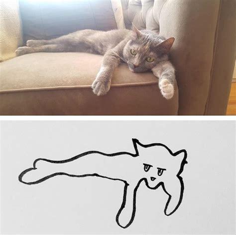 gambar painting kucing walau cuma garis sederhana 13 gambar kucing ini tak