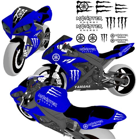 Monster Energy Sticker Kits Yamaha by Sticker Autocollant Kit Moto Monster Energy Yamaha