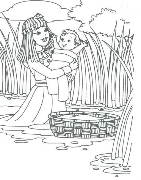 moses coloring pages preschool 25 best ideas about baby moses crafts on pinterest baby