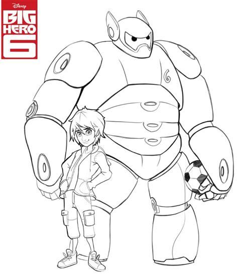 Baymax Hitam Putih hiro gogo tomago coloring page coloring pages for big 6