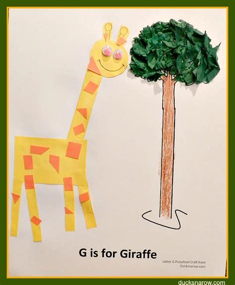giraffe crafts for g is for giraffe preschool lesson craft ducks n a row