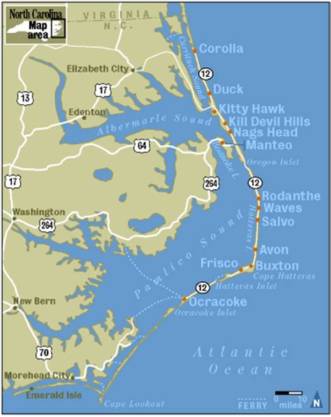 map of outer banks vacation at the outer banks counting my pennies