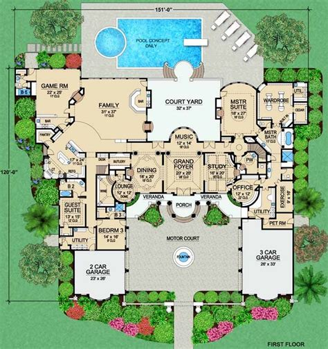 baby nursery large mansion house plans luxury home floor 140 best house plans images on pinterest architecture
