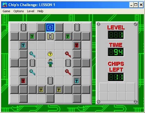chips challenge maps freeware of the week chips challenge daves