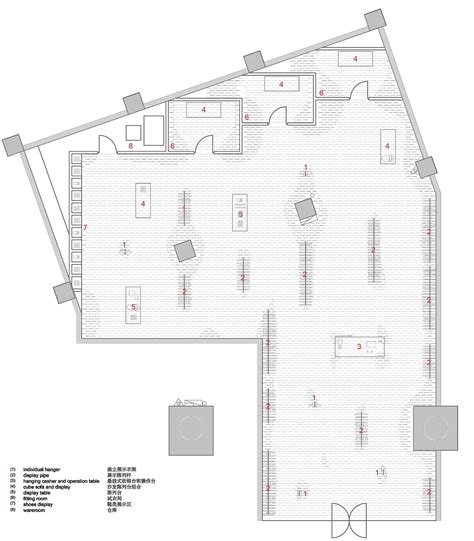 store floor plan gallery of snd fashion store 3gatti 15
