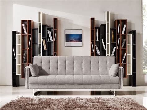 divani sofa bed divani casa tejon modern beige fabric sofa bed