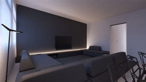 paris grey accent wall minimalist inspirations from oporski architektura