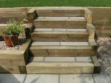 Sleeper Steps by Garden Design Portfolio Sleepers Steps New