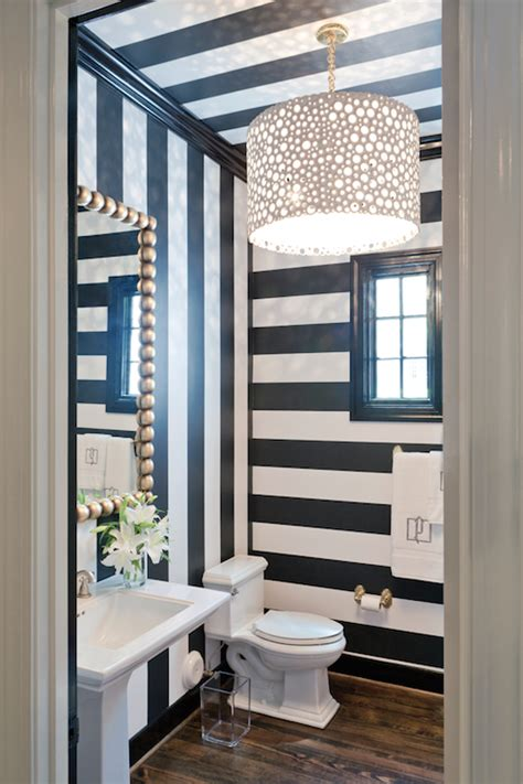 striped wallpaper bathroom black and white striped walls contemporary bathroom