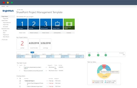How To Start Managing Projects On Sharepoint In Under 5 Minutes Free Template Free Sharepoint Hr Template