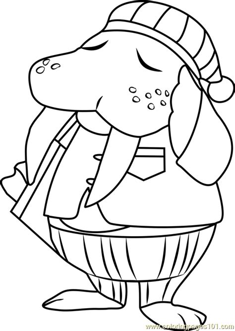 coloring pages of animal crossing new leaf wendell animal crossing coloring page free animal