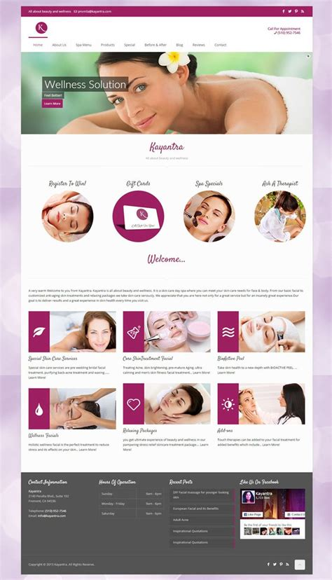 spa website inspiration 23 best spa and beauty websites inspiration web design