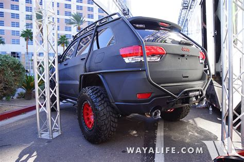 sema jeep grand cherokee 2015 sema charcoal bulletproof jeep wk2 grand cherokee
