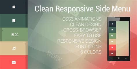 html layout side menu clean responsive side menu by sqra codecanyon