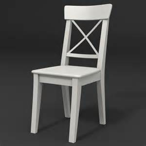Ingolf Bar Stool White by 3ds Max Ingolf Chair