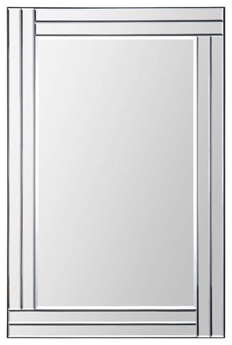 baton rectangular mirror modern wall mirrors - Modern Rectangular Wall Mirror