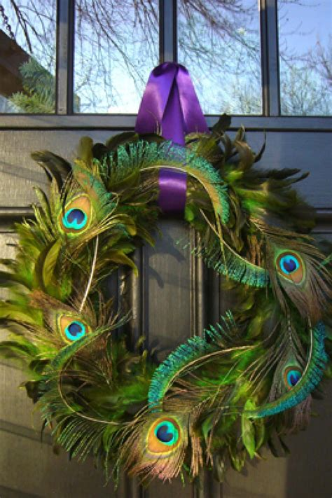 peacock decoration peacock feather wreath hgtv