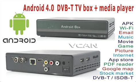 Tv Tuner Android Jogja vcan0405 android tv box dvb t media player android 4 0 tv tuner