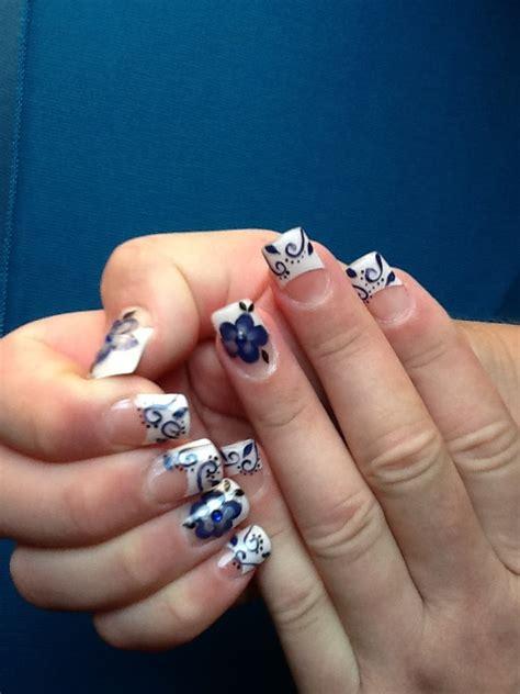 imagenes de uñas de acrilico azul marino u 241 as acrilicas azul marino