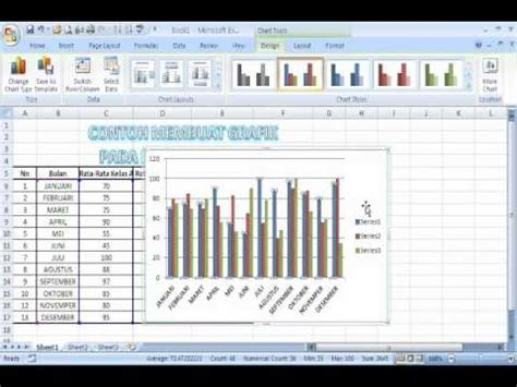 tutorial excel grafik tutorial membuat grafik di microsoft excel youtube