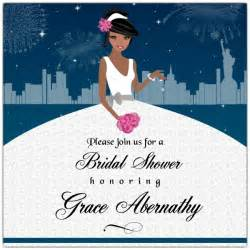 Enchanted city african american bridal shower invitations paperstyle