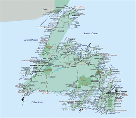 newfoundland map about newfoundland labrador motorcycle tour guide scotia atlantic canada