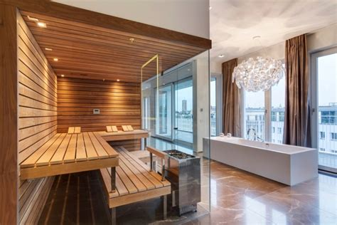how to design home lighting luxury design for sauna room in modern bathroom decorating
