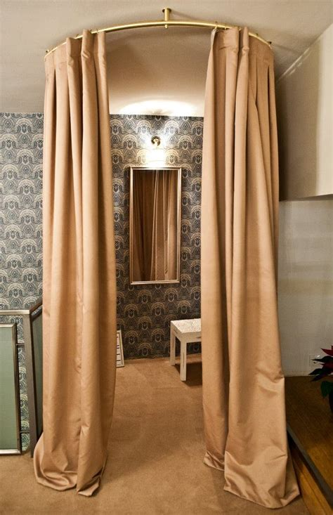 curtains for dressing room mare store interior love the curtain idea for dressing