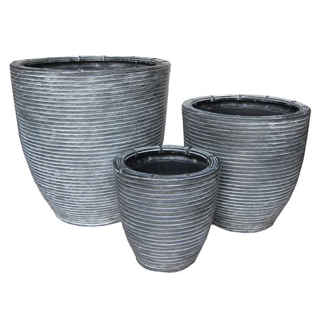 Curved Planters by Walton Curved Planter Set Of 3 Pride Garden Products