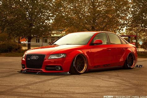 audi a4 modified audi a4 b8 modified custom wide slammed